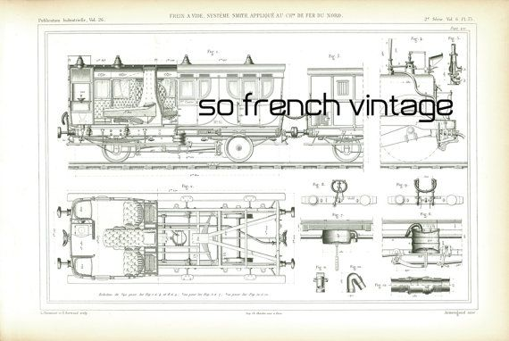 AUTHENTIC, LARGE SIZE, NOT A COPY Railfan gift Railroad History - copy blueprint construction limited