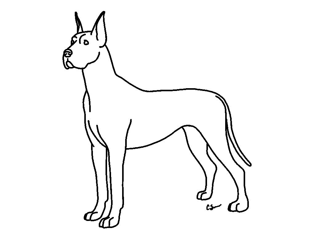 Great Dane Coloring Pages Mesmerizing 36 Beautiful 23 With Arilitv