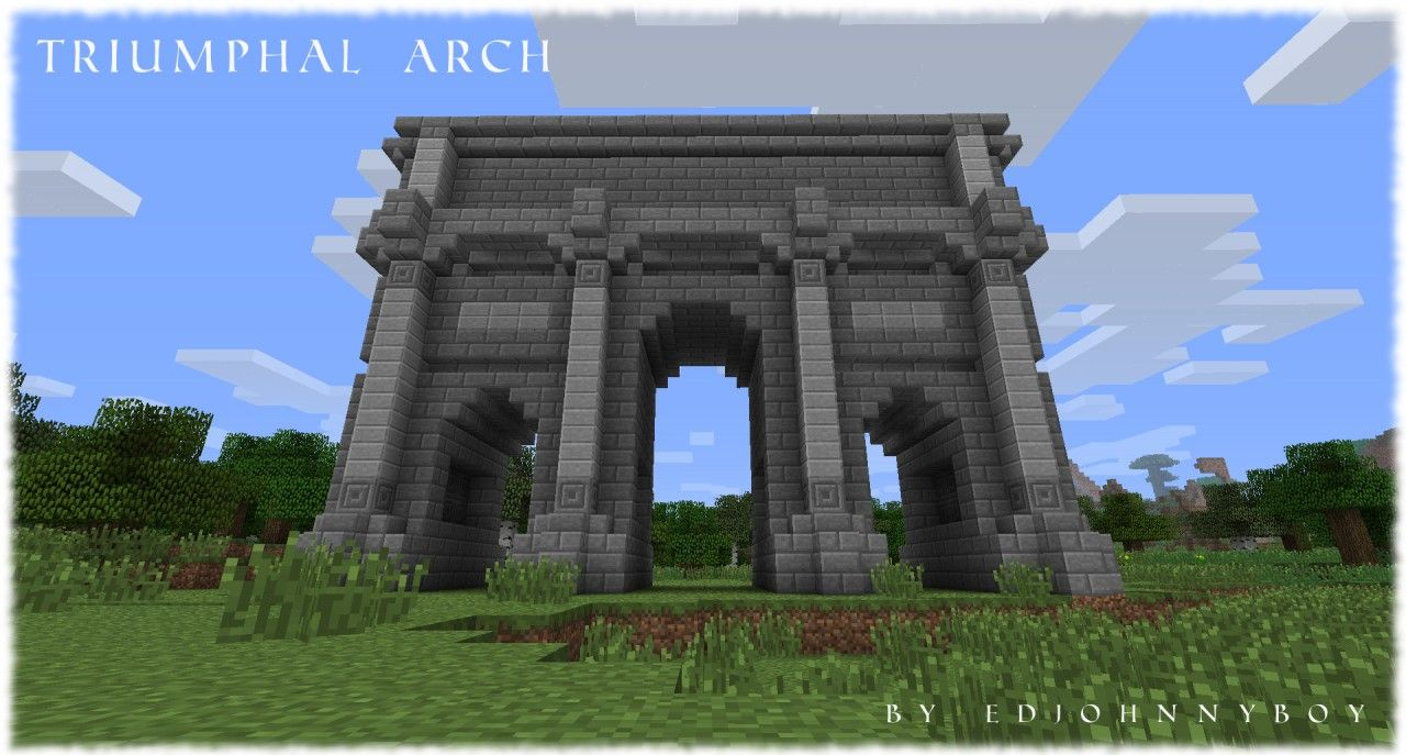 Ejbs Triumphal Arch Roman Building Minecraft Project Minecraft Minecraft Bridges Minecraft Architecture