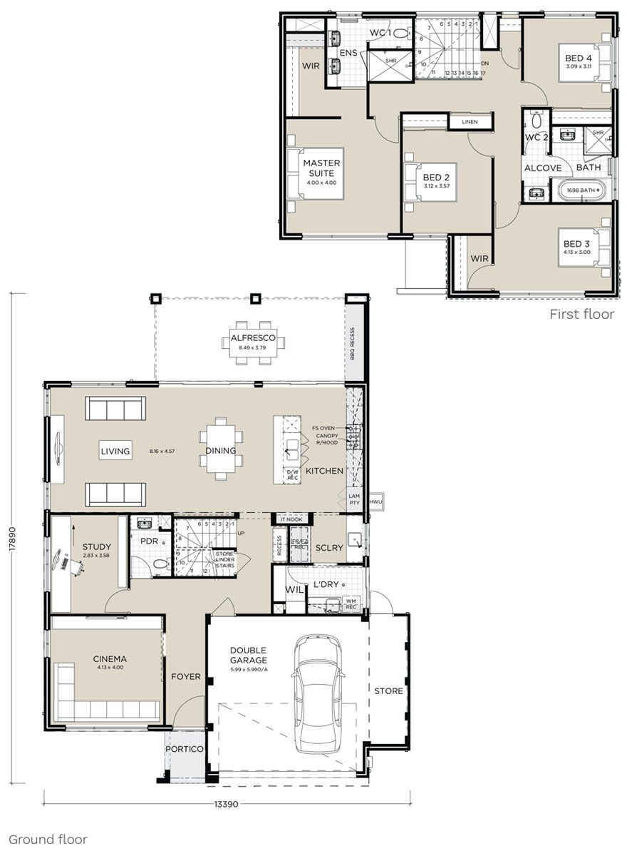 Image Result For Pindan Homes Floor Plans House Plans Australia Family House Plans Double Storey House Plans