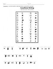 English Worksheet Mesopotamia Cuneiform Decoding