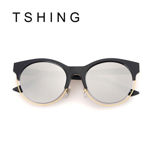 Mode date SIDERAL lunettes de soleil rondes femmes marque Designer Super  Star Rihanna vêtements Vintage Cat Eye miroir lunettes de soleil femme 56b0bbdb261e