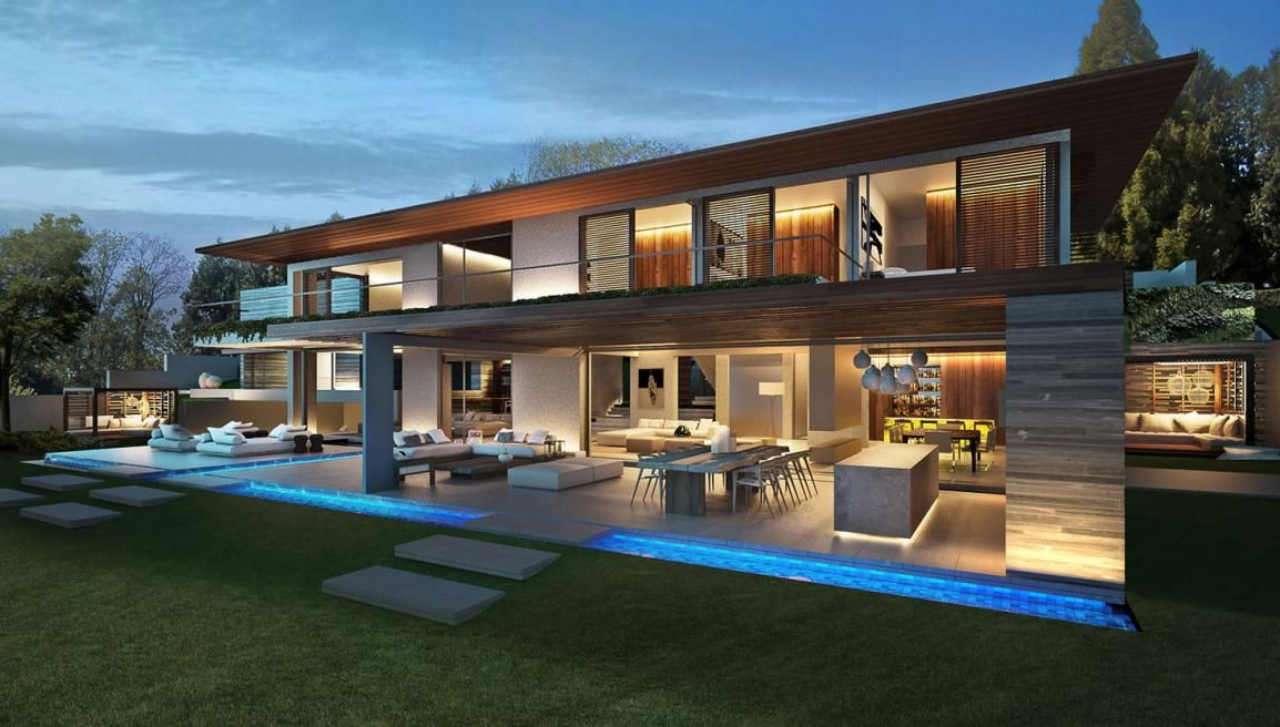 Contemporary Home Backyard Ch Geneve 59 Geneva