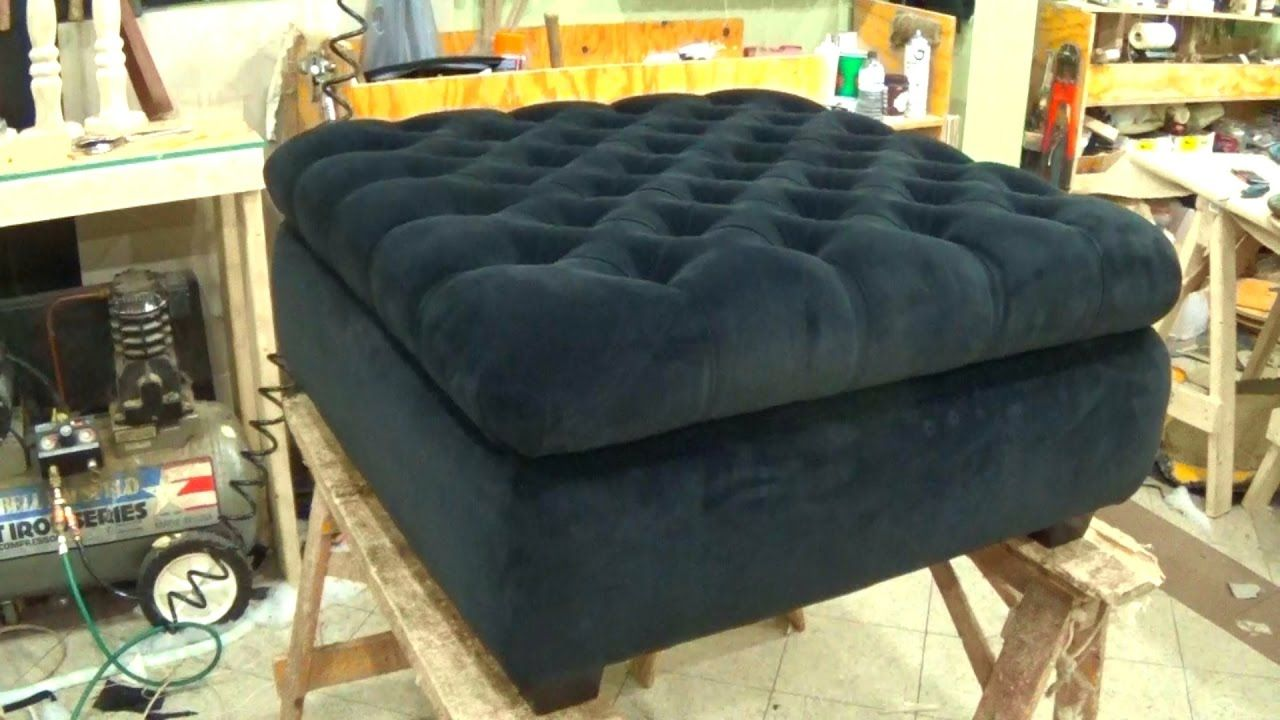 How to upholster a storage ottoman alo upholstery diy