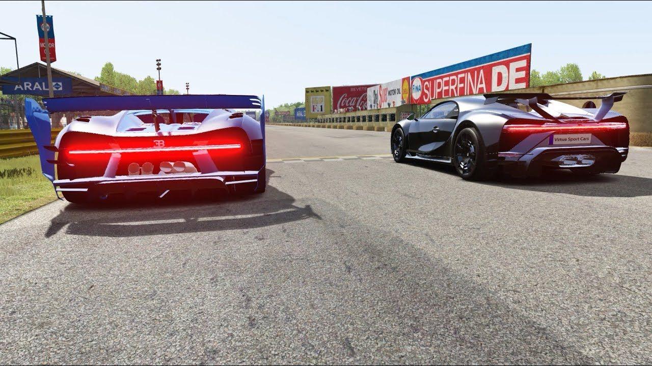 Bugatti Chiron Pur Sport Cockpit vs Bugatti Vision GT Round 2 at Monza Full Course
