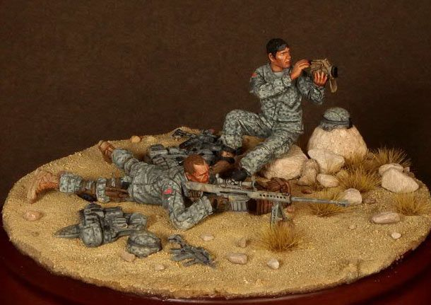 Dioramas and Vignettes: Sniper pair, 82nd Airborne div., U.S. Army