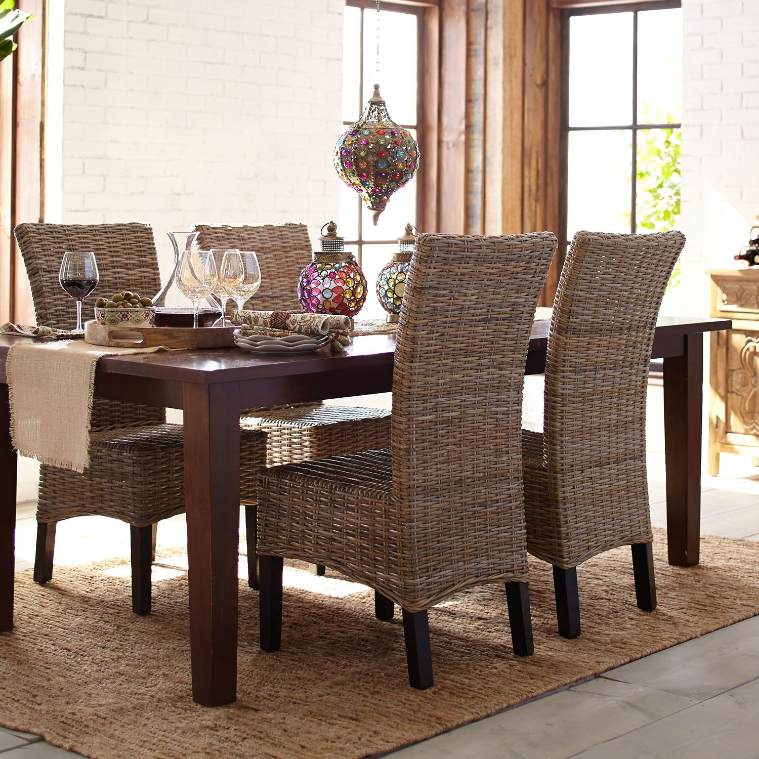 Kubu Dining Chair In 2020 Wicker Dining Room Chairs Dining