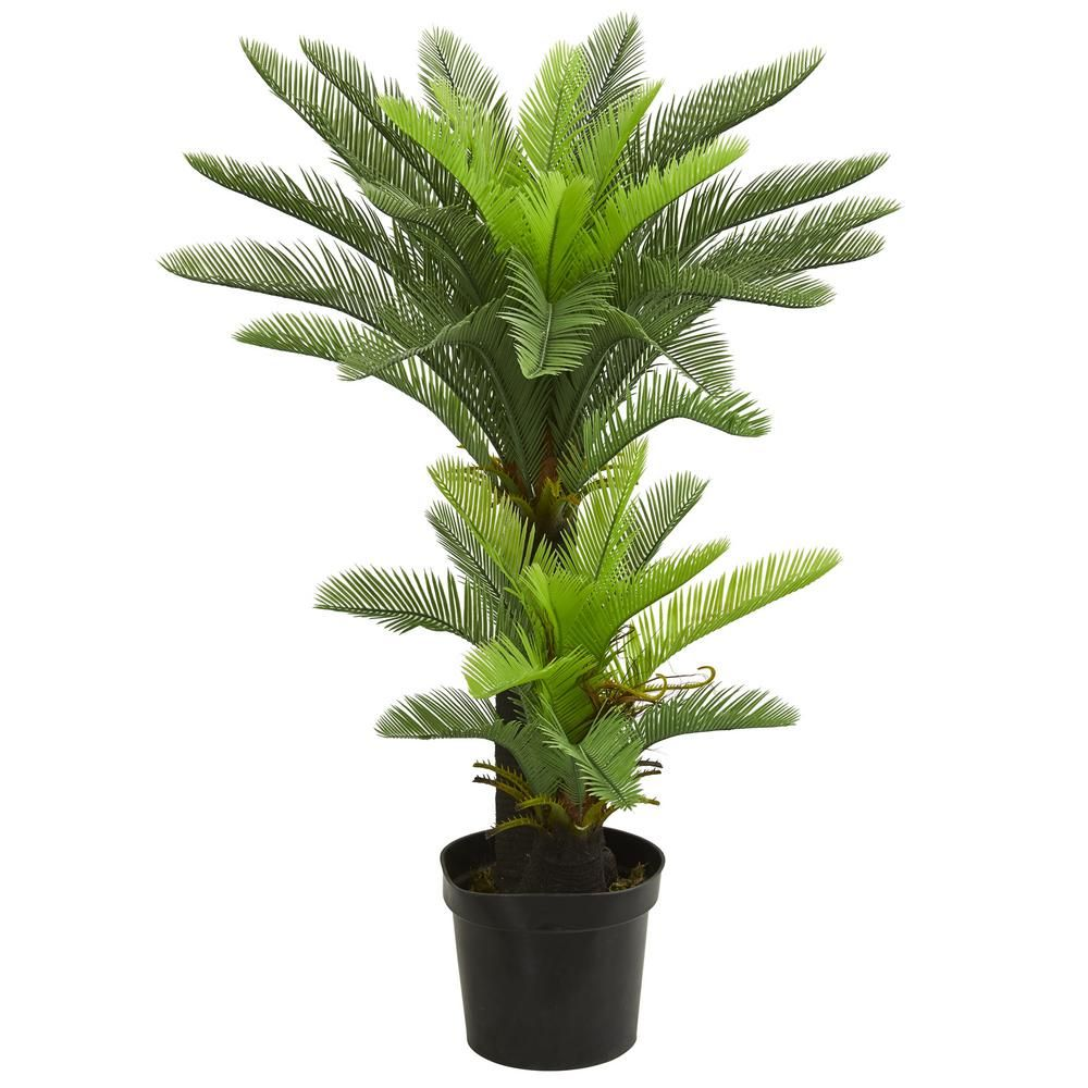 Indoor ft double potted cycas artificial tree products