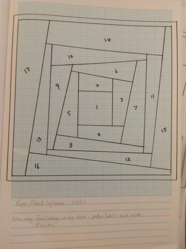 Paper Piecing Quilt Patterns Log Cabin : Wonky Log Cabin Paper Piece Template Patchwork paper pieced_tutorial_patterns Pinterest ...