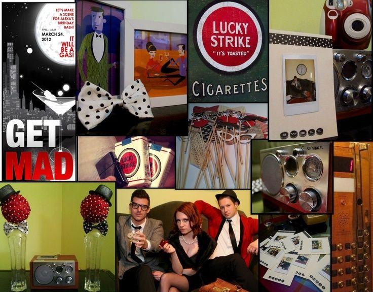 mad men party decorations | dazzledwithatwist.com: The FINALE! | Mad Men Party Ideas