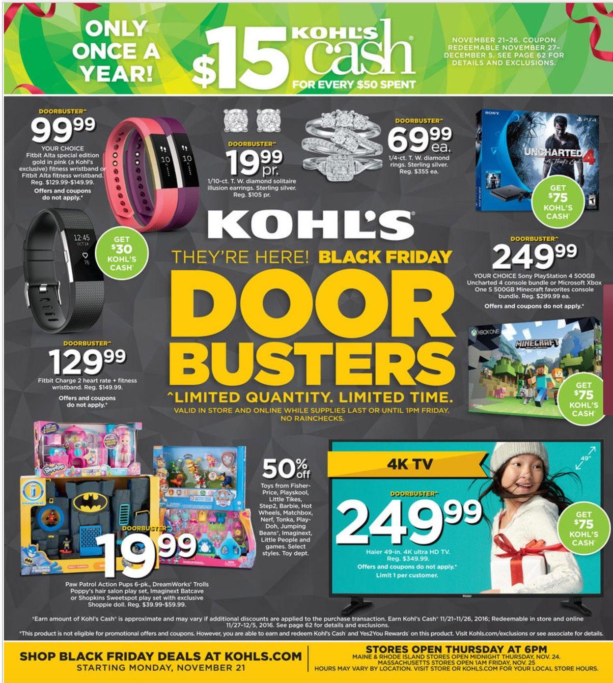 Kohl S Black Friday Ad 2016 Black Friday Ads Kohls Black Friday Black Friday