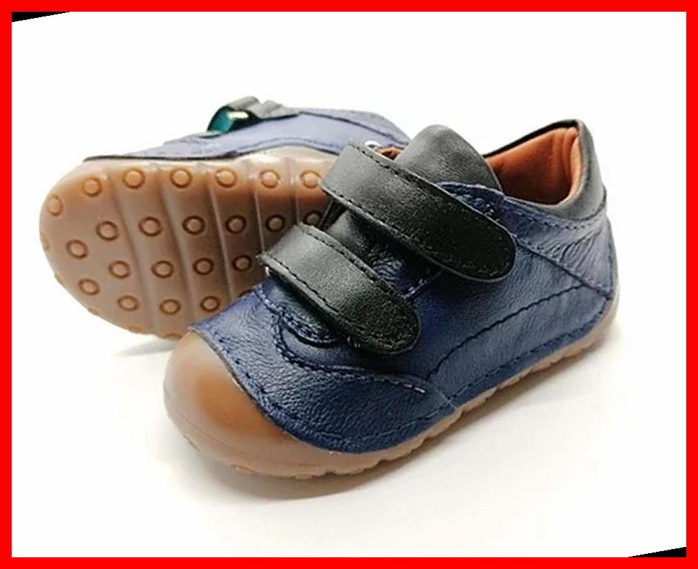 100% Leather DarkBlue Velcro Blue Color Toddler Ki