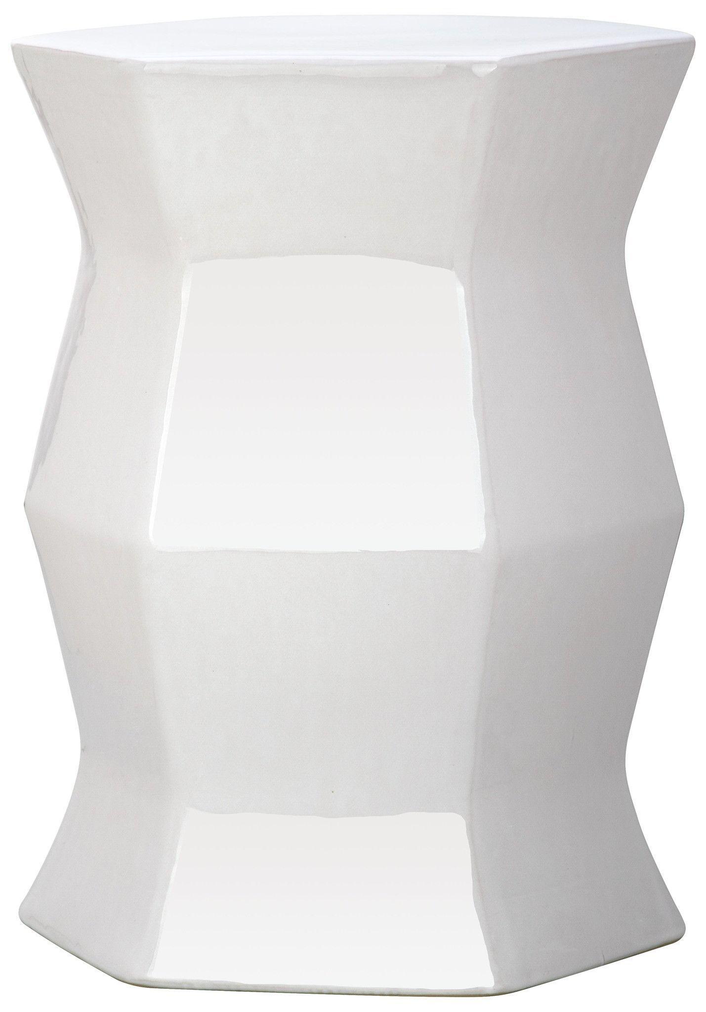 emissary garden stool products table metallic pleated