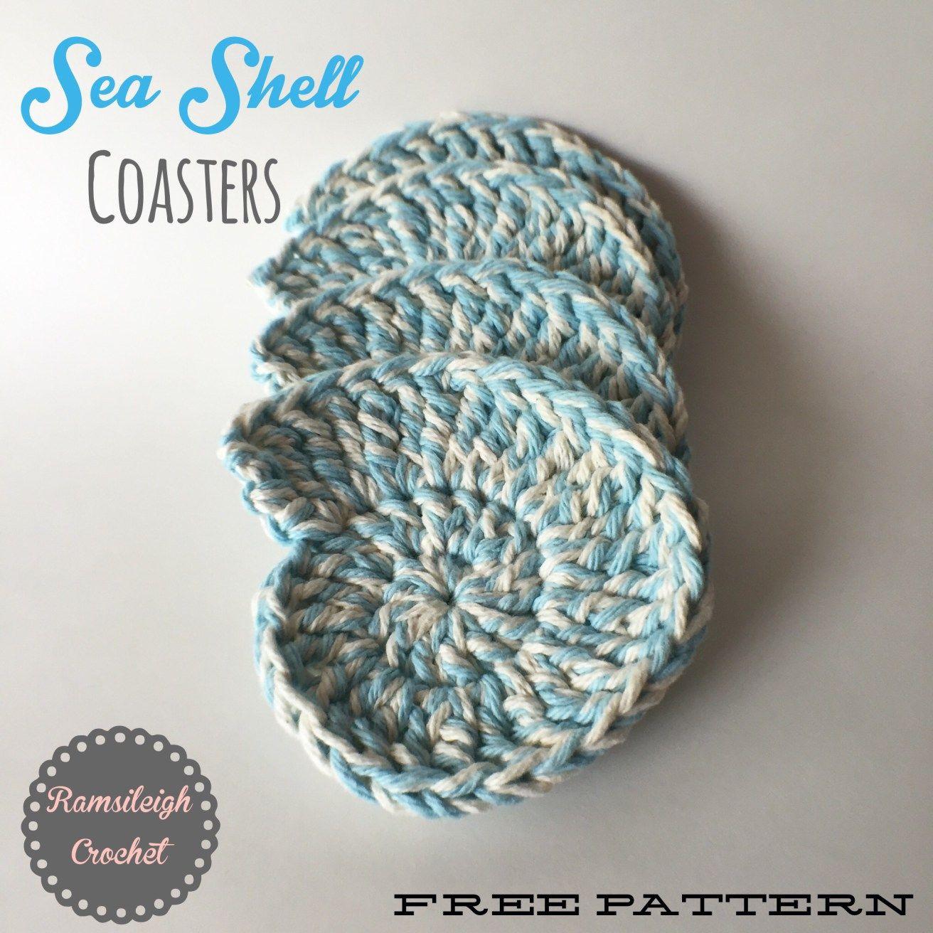 Sea Shell Coasters {FREE PATTERN} | yarn crafts | Pinterest ...