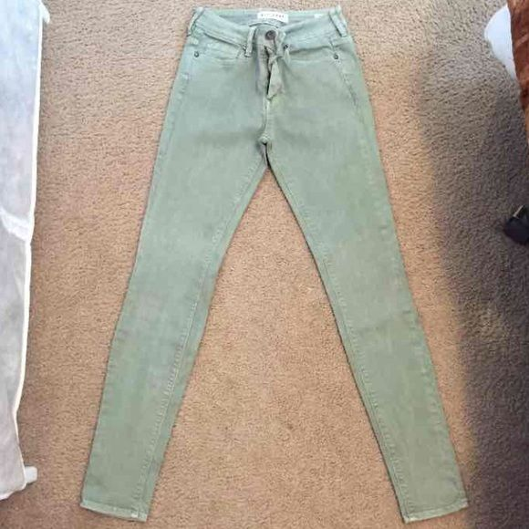 Light Green Pacsun High Rise Skinny Jeans Super cute skinny jeans. Worn and few times. A little faded but still in good condition PacSun Pants Skinny