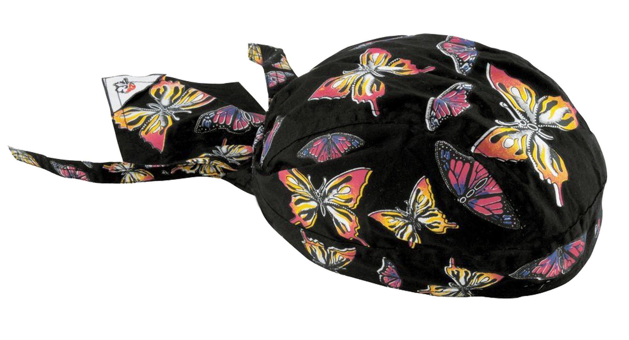 Colorful Rainbow Butterfly Head Wrap Womens Doo Rag Durag Skull Cap Cotton  Sporty Motorcycle Hat 96b3bdf9a6e9