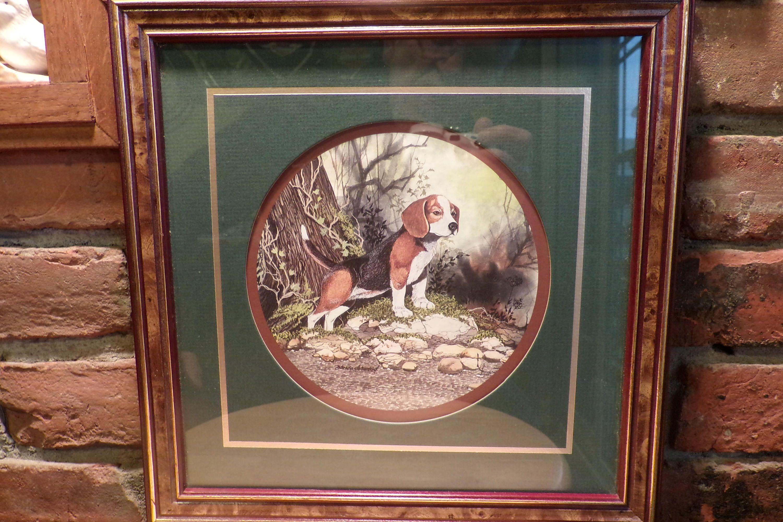 Vintage Beagle Print By Don Easterwood Framed Beagle Print