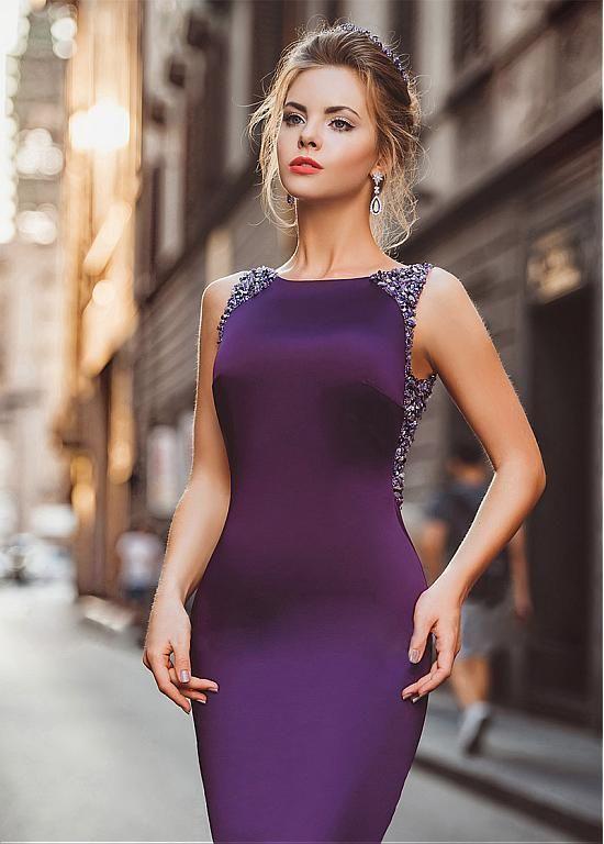 comprar Winsome Tulle & acetato joya escote satinado sirena vestidos ...