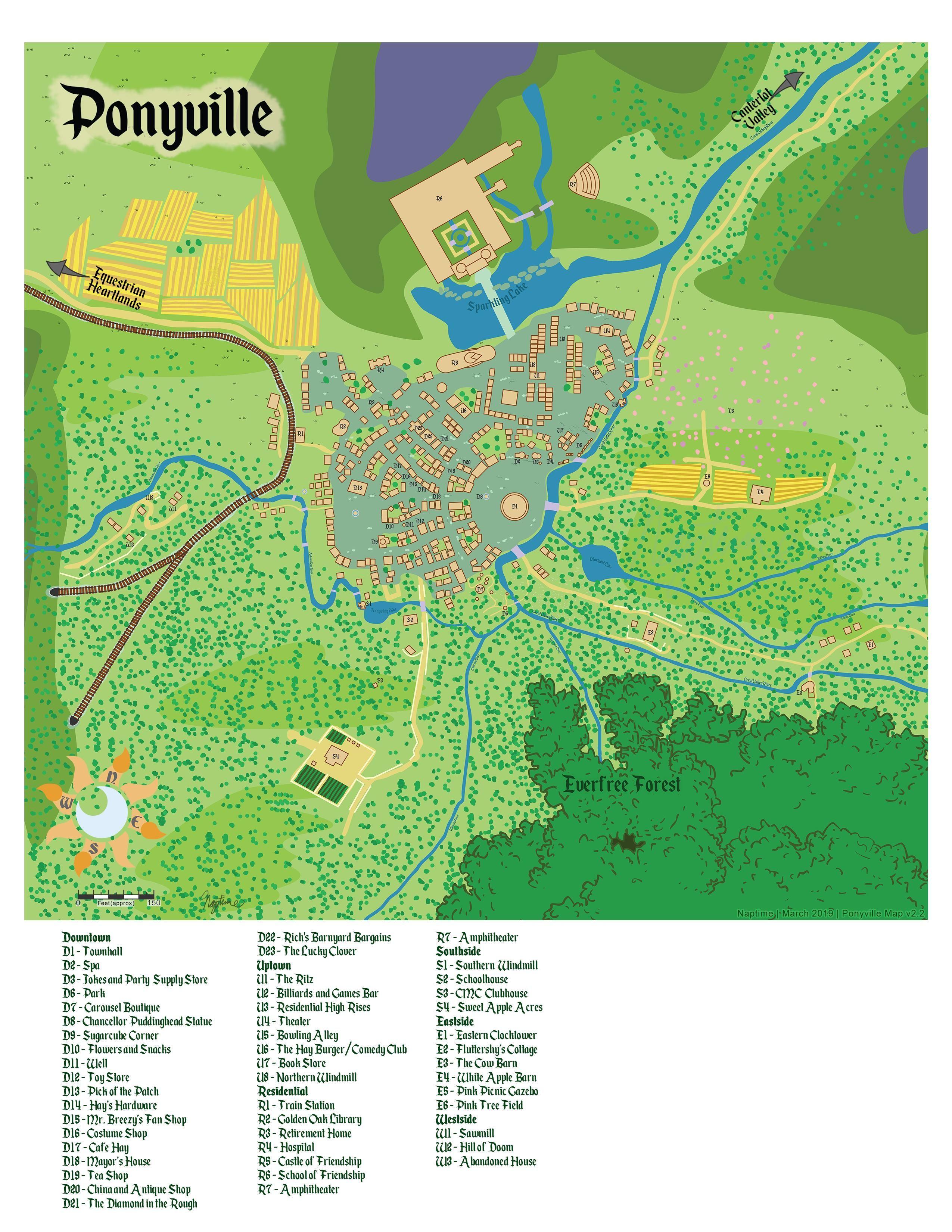 Mlp Minecraft Maps : minecraft, Tails, Equestria], Ponyville, Little, Comic,, Pony,