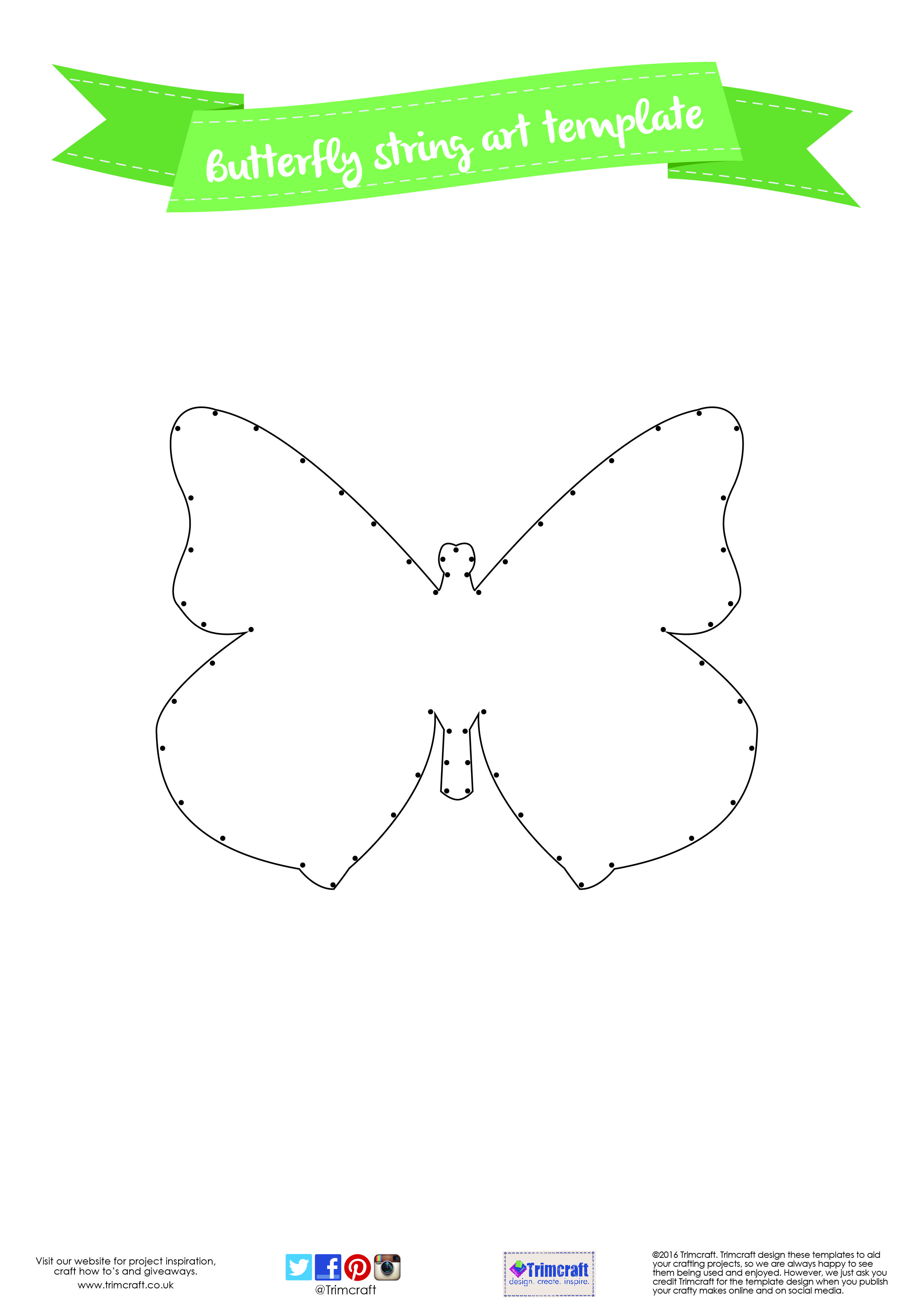 String Art Patterns Diy Home Daccor Butterfly String Art Tutorial With Free Printable