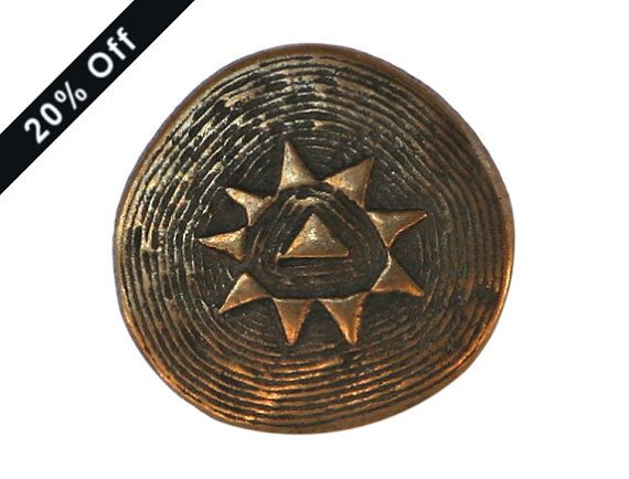 SALE PRICE 3 Metal Shank Buttons Little Star 7/8 by ButtonJones, $2.90