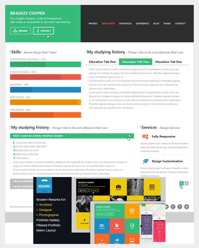 Cooper Multicolor Flat Professional Resume Jpg Image Jpeg 640 800 Pixels Resume Design Resume Web Design