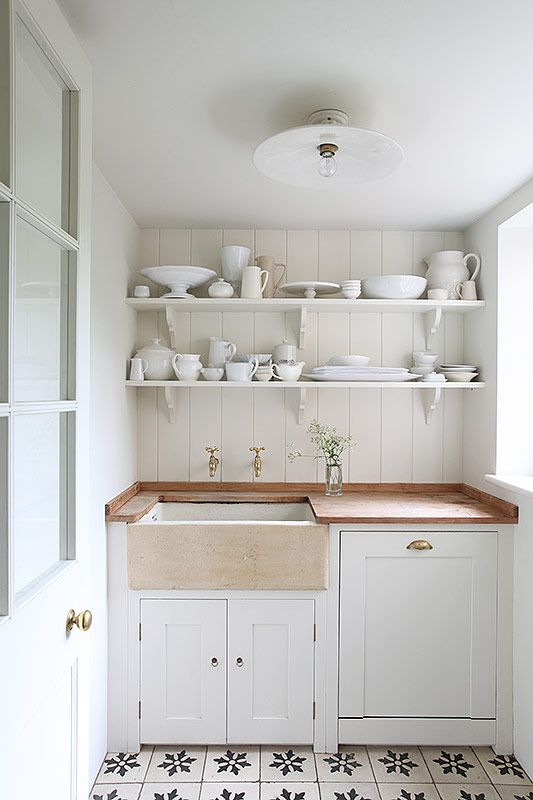 Small Kitchen Open Shelving White Pattern Tile  Design Captivating Open Kitchen Wall To Dining Room Decorating Design