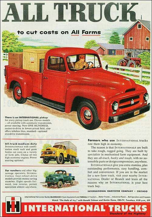 Pingl par robert sur voiture international pickup truck international harvester truck et - Moissonneuse cars ...