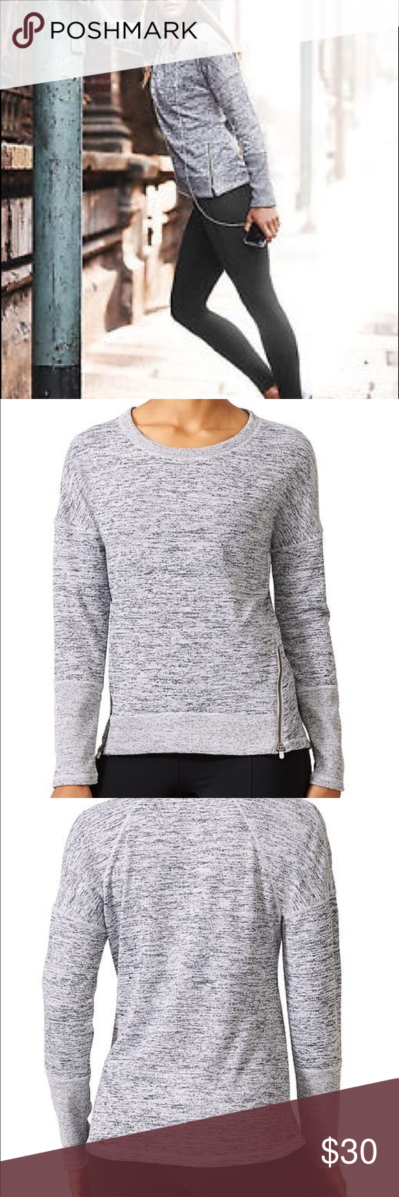 Athleta Blissful Sharkbite Women S Sweatshirt Sweatshirts Women Clothes Design Sweatshirts [ 1740 x 580 Pixel ]