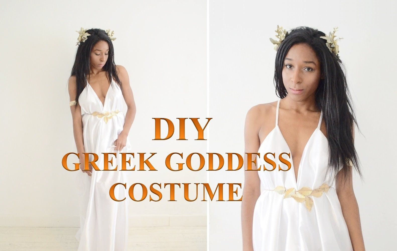 DIY COSTUME | GREEK GODDESS TOGA DRESS & HALF CROWN ...