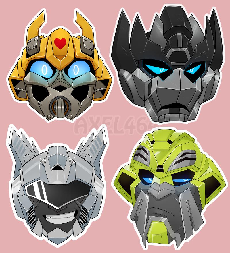 Tf Bayverse Heads Transformers Artwork Transformers Art Transformers Movie
