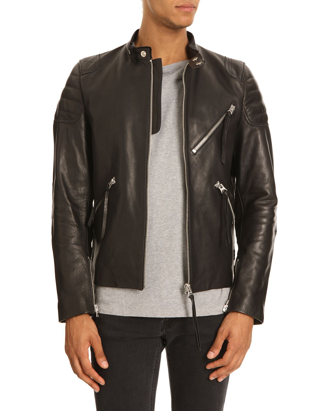 adff065ccea Acne, Oliver, Black Leather Jacket | Clothes & Style | Leather ...