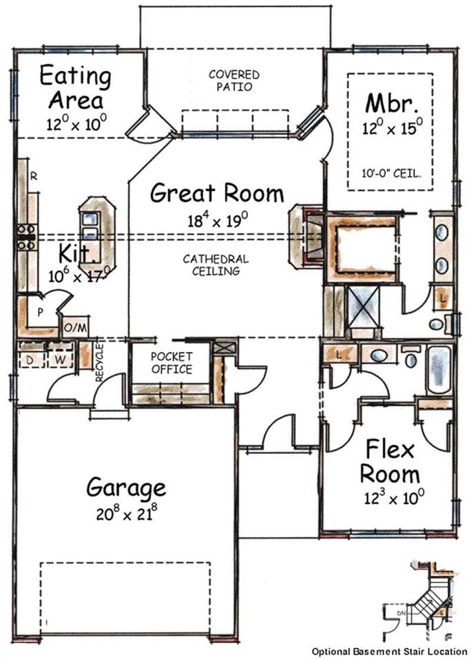 First Floor Plan Two Bedroom House Small House Plans House Plans