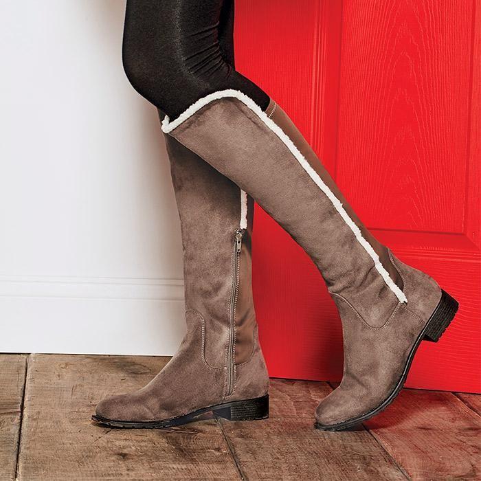 Faux Fur Shoe Boots