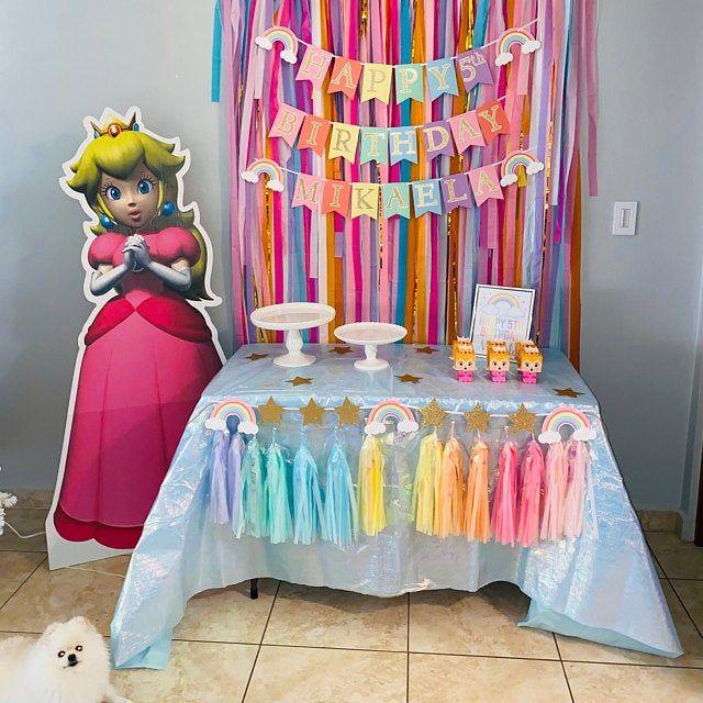 Streamer Backdrop, Fringe Backdrop, Unicorn Party, Unicorn Party Decorations, Pastel Rainbow, Ice Cream Party, Coachella Party, Bachelorette