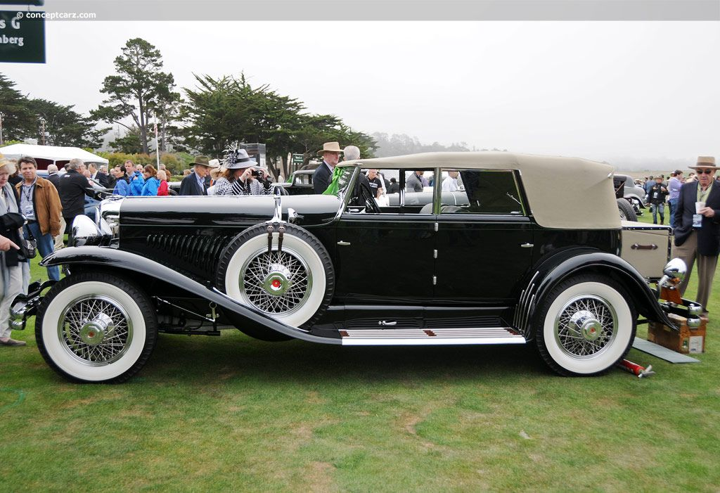Photographs of the 1930 Duesenberg Model J Murphy. Convertible Sedan. Coachwork by Murphy. Chassis number 2341. Engine number J-328. Pebble Beach Concours d...