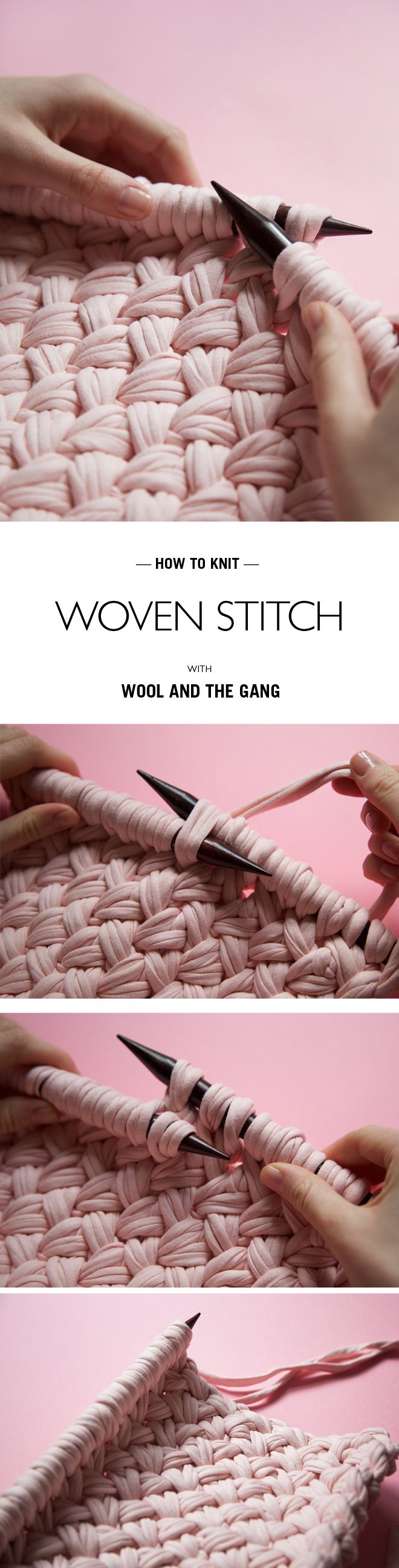 HOW TO... WOVEN STITCH @woolandthegang | HOW TO KNIT | Pinterest ...