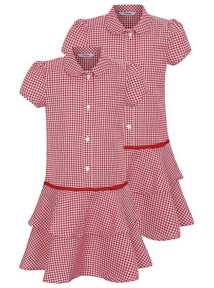 091b97f57a20d 2 Pack Girls School Gingham Ra-Ra Dress – Red, read reviews and buy ...