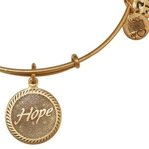 Alex And Ani Hope Expandable Wire Bangle Russian Gold