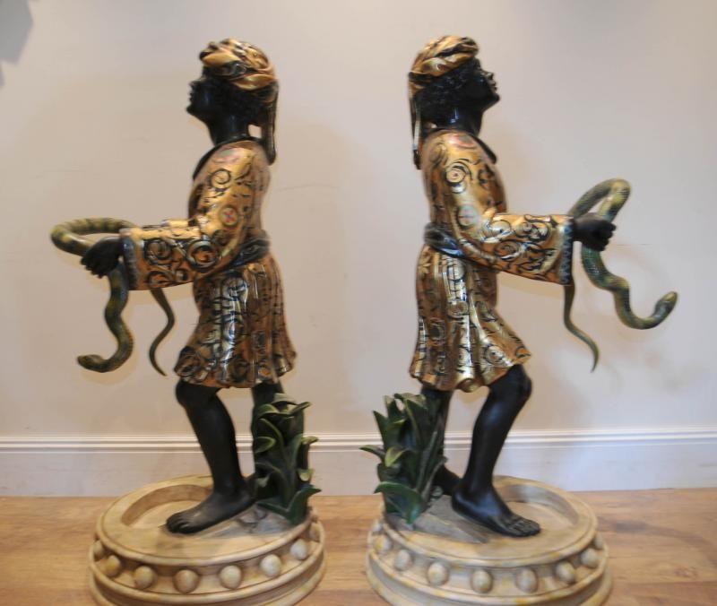 Antique French Cold Painted Bronze Blackamoor Trinket
