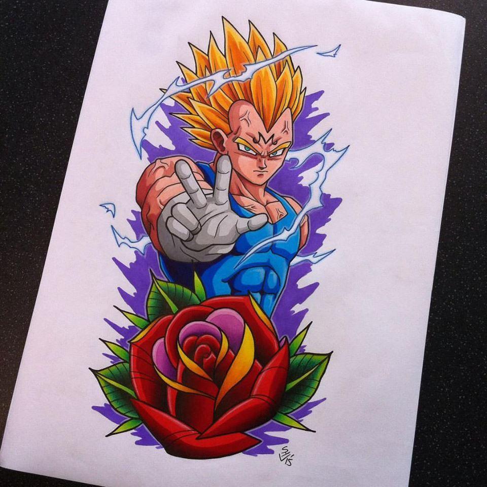 Majin Vegeta Tattoo Design Dragon Ball Super Art Dragon Ball Art Japanese Dragon Tattoo Meaning