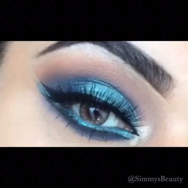 New makeup look Monday Blues  How to mini tutorial  Using @anastasiabeverlyhills dipbrow for brows  all @makeupgeekcosmetics eyeshadows; creme brulee shimma shimma frappe neptune pegasus foiled shadow on lid and magic act inner corner highlight.  @sigmabeauty wickid gel liner  @vegas_nay lashes Grand Glamour @eylureofficial  @tartecosmetics LCL mascara and finishing powder  @opvlashes  @zoevacosmetics rose gold brushes  and -#realtechniques brushes used.  via @angela4design by simmysbeauty
