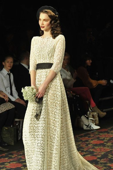 lena hoschek show mercedes benz fashion week berlin autumn winter 2012 wedding dresses by. Black Bedroom Furniture Sets. Home Design Ideas