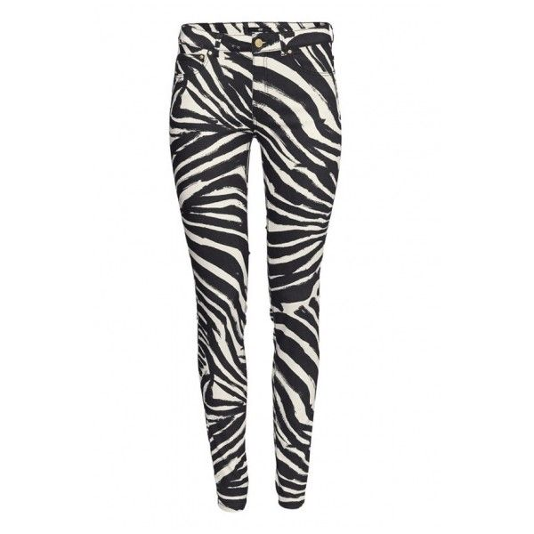 Fitted Zebra Pattern Pencil Pant with Double Pocket Back (5.830 HUF) ❤ liked on Polyvore featuring pants, fitted pants, pencil trousers, white pants, pencil pants and zebra print pants