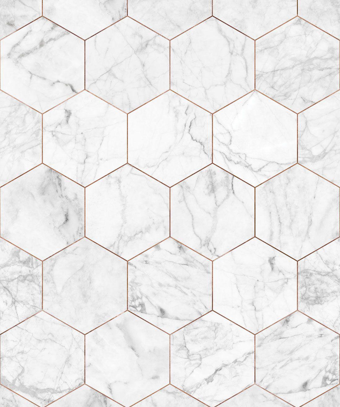 Marble Copper Tiles Wallpaper Crisp Marble Tiles Milton King In 2021 Tile Wallpaper White Marble Tiles Copper Tiles