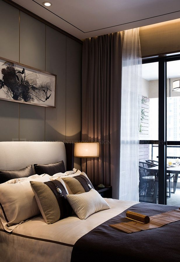 Picture of bedroom design and furniture in modern room also rh pinterest