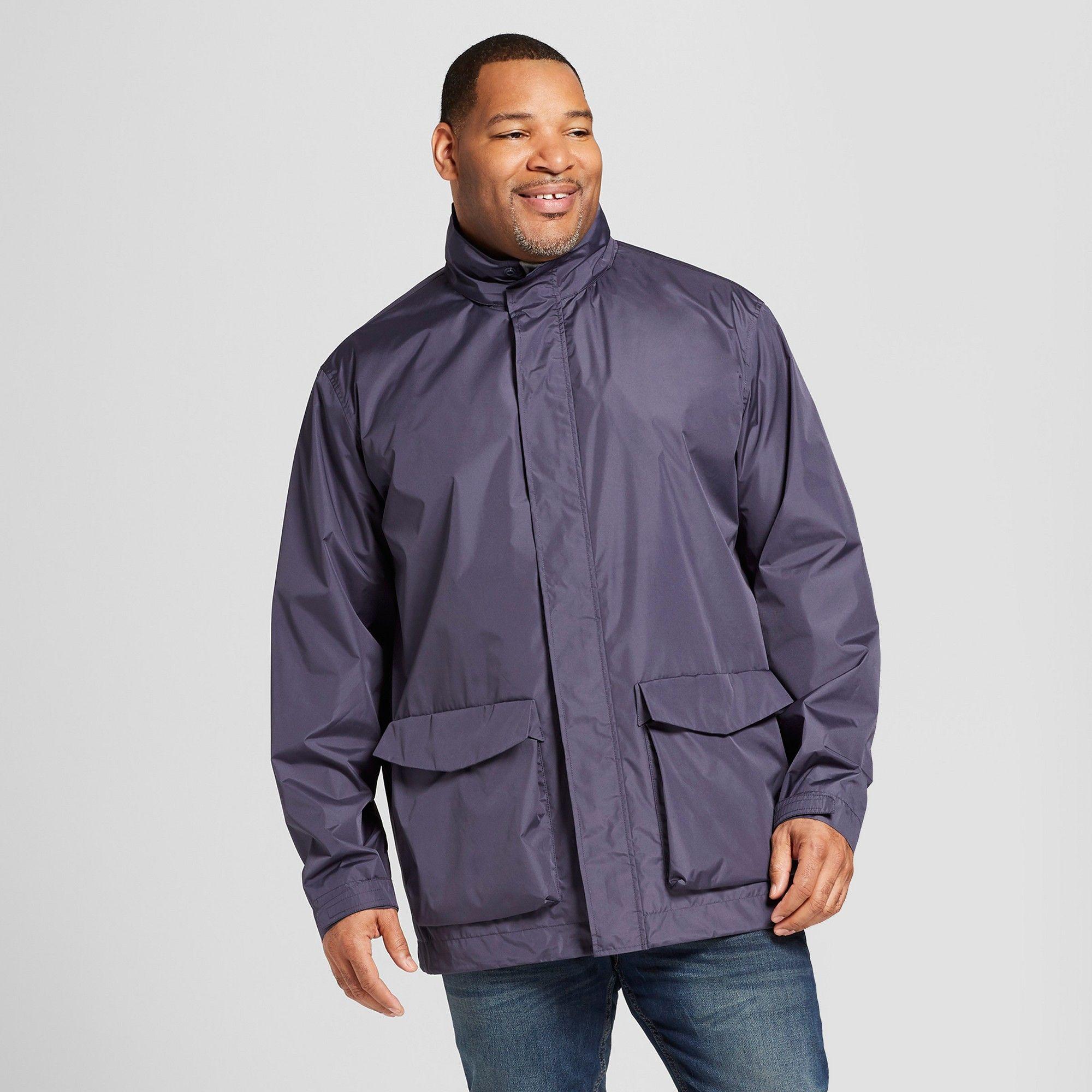 b4a2bdf0b Men's Big & Tall Rain Jacket - Goodfellow & Co Geneva Blue 2XB ...