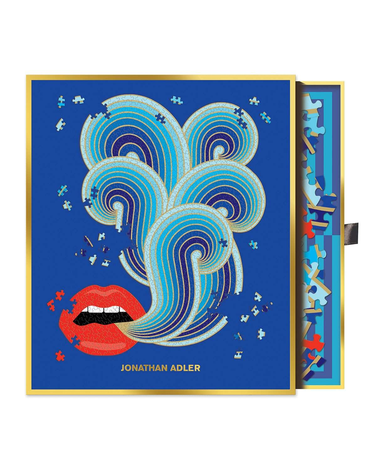 Hachette Book Group Jonathan Adler Lips Shaped Puzzle #lipsshape