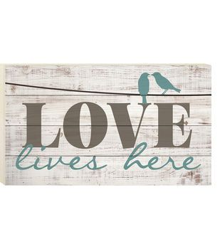 Wild Blooms Wall Decor-Love Lives Here