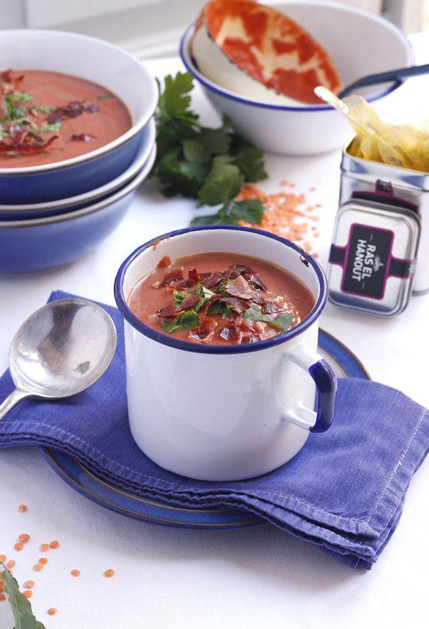 Ras el Hanout Red Lentil Soup
